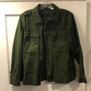 Jcrew cotton layering jacket